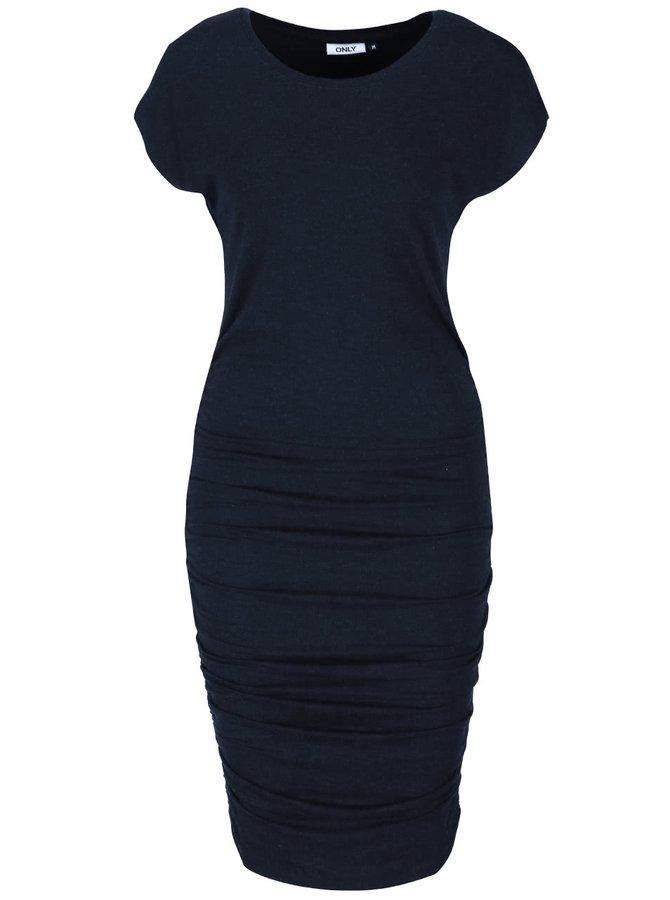 Tmavě modré šaty s řasením ONLY Toa Moster