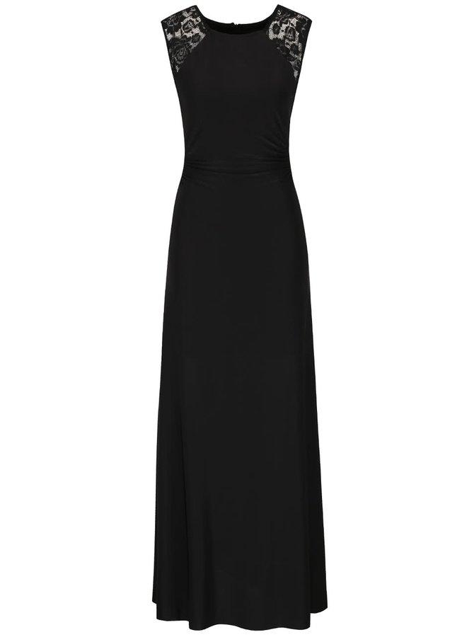 Rochie neagră maxi AX Paris cu detalii din dantelă