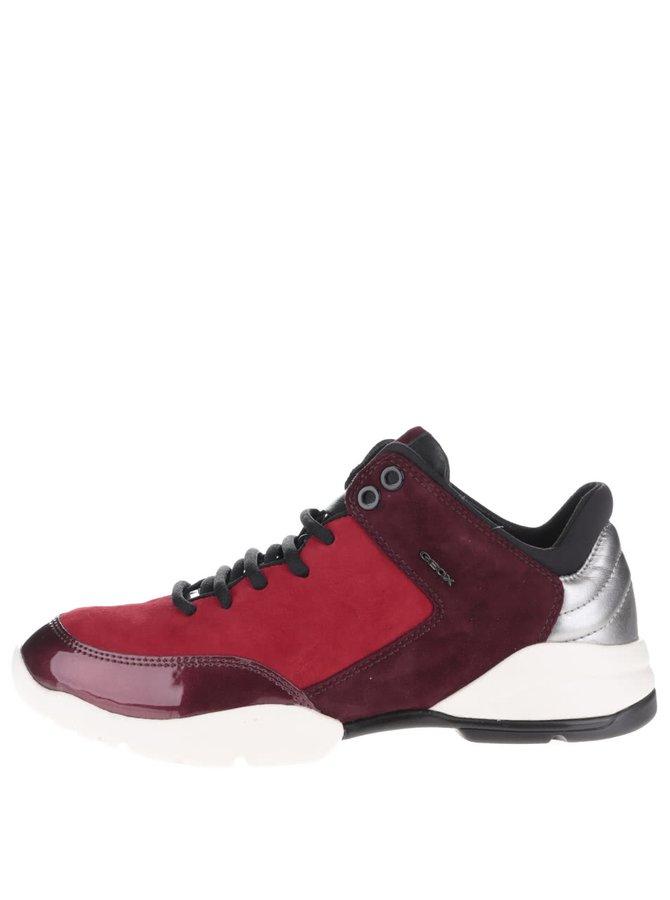 Pantofi sport vișiniu-roșu Geox Sfinge