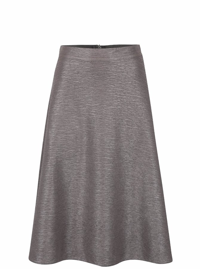 Šedá krepová sukně AX Paris