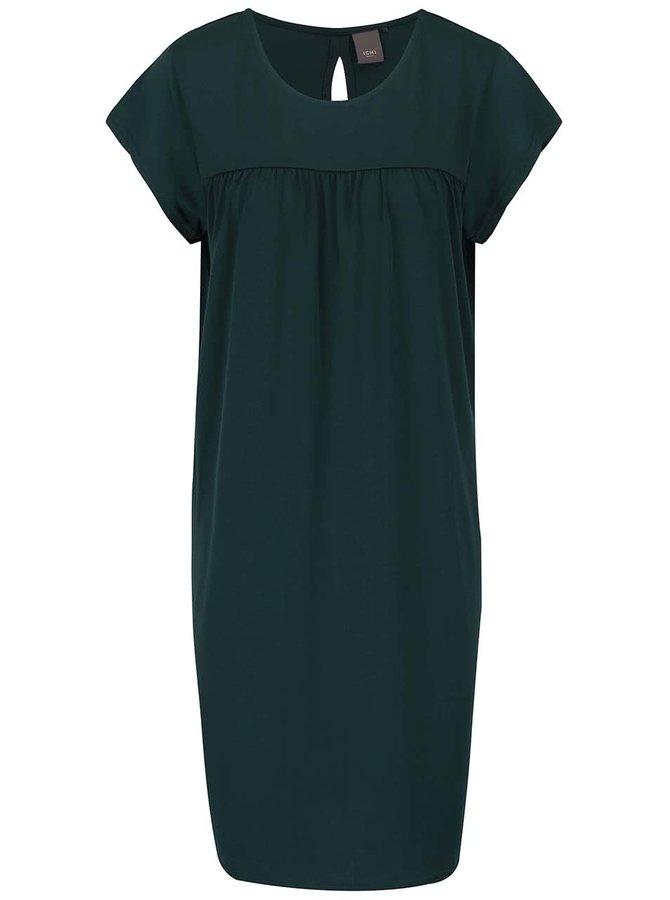 Tmavozelené šaty ICHI Jaya
