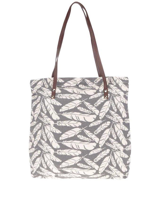 Krémovo-šedá taška s potiskem pírek Haily's Luna
