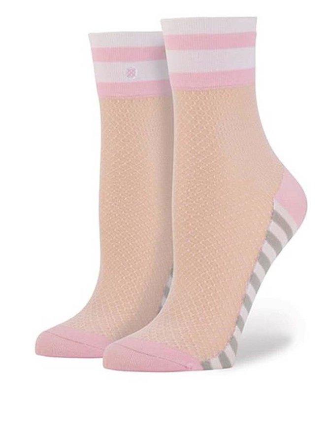 Růžové dámské síťované ponožky Stance Jersey Mesh