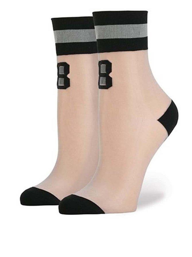 Šedo-černé dámské síťované ponožky Stance Number