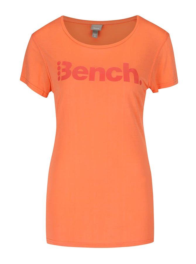Oranžové dámske tričko s potlačou Bench Expate