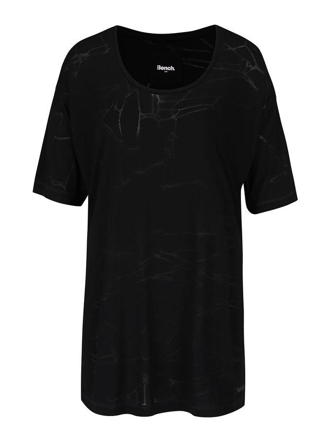 Tricou supradimensionat negru Bench Corridor cu model discret