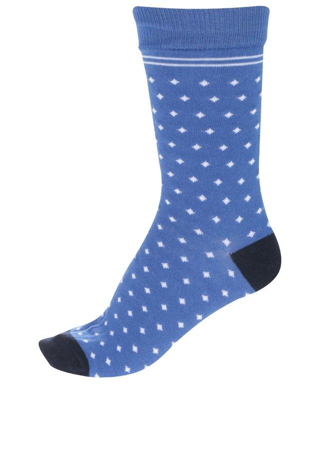 Șosete albastre cu buline Jack & Jones Blue pentru bărbați