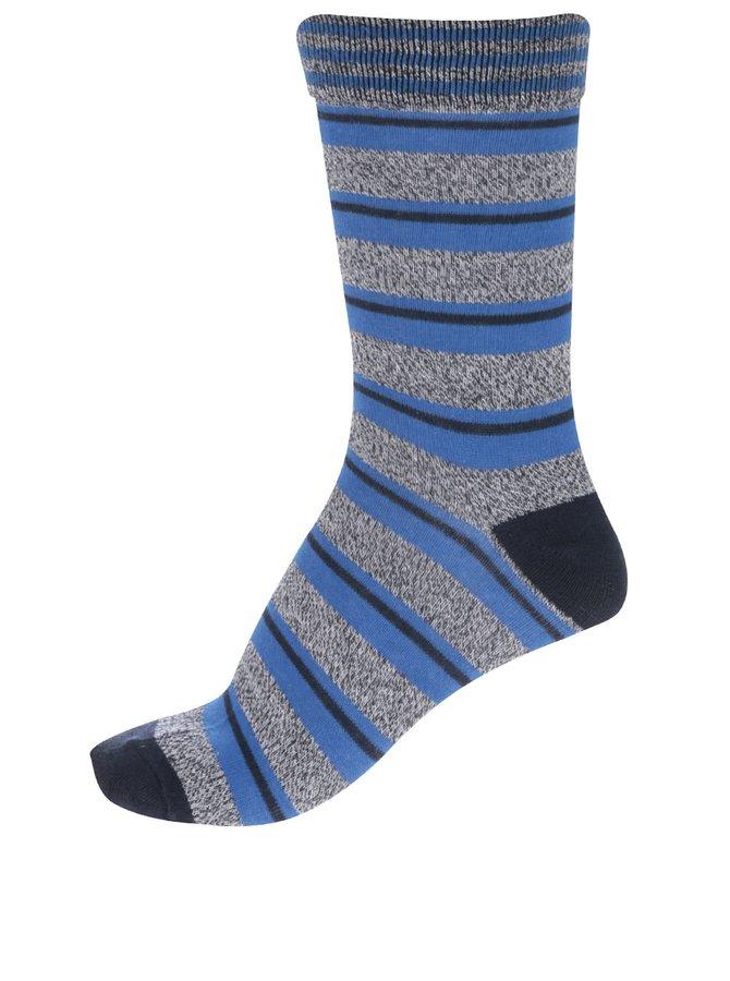 Sivo-modré pruhované ponožky Jack & Jones Blue