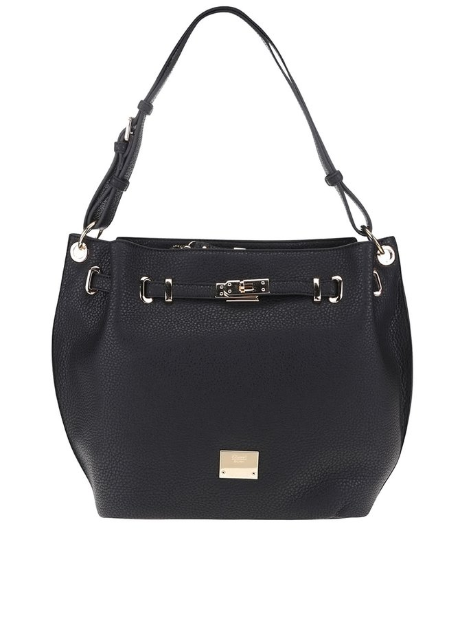 Čierna kabelka s detailmi v zlatej farbe Gionni Odette