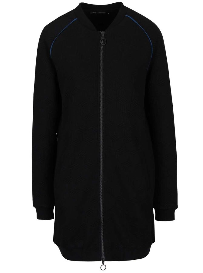 Bluză sport neagră lungă gsus cu model în relief