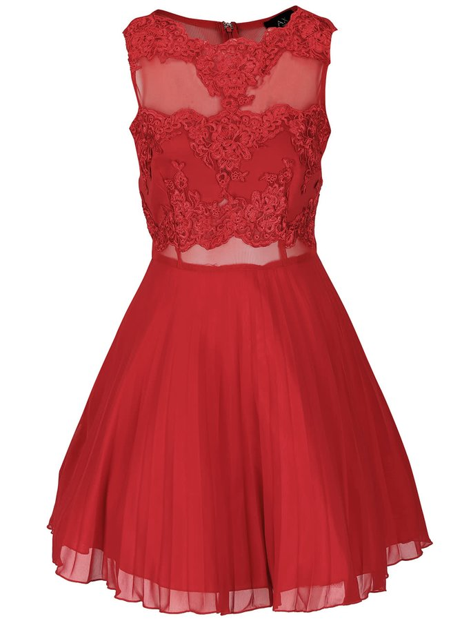 Červené šaty s krajkou AX Paris