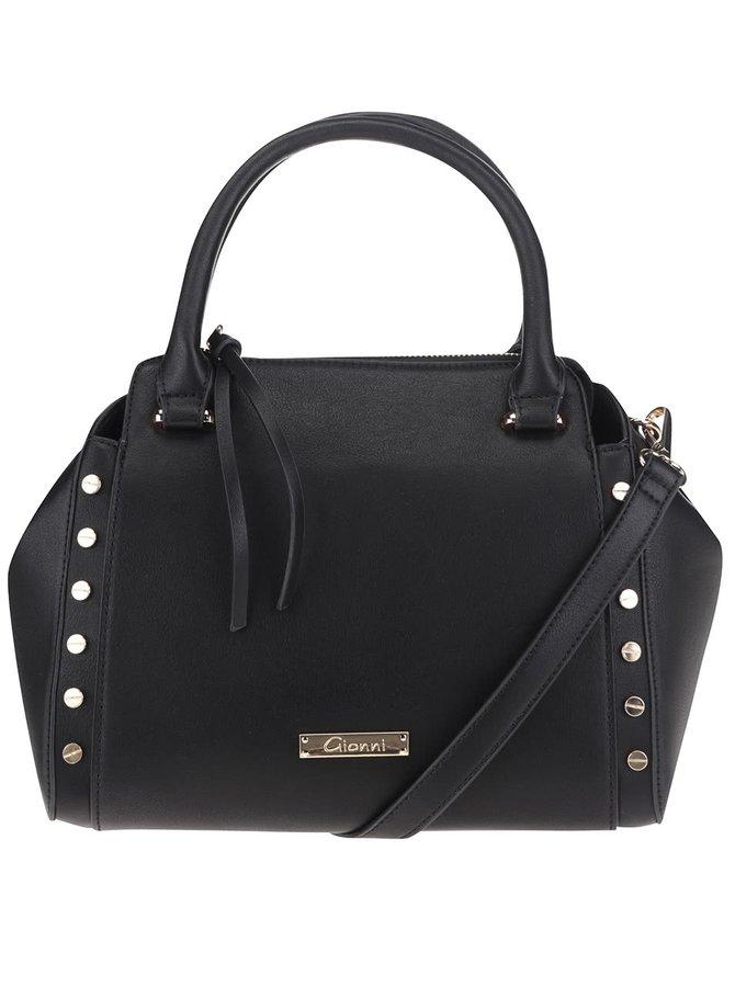 Čierna kabelka s aplikáciou Gionni Romy