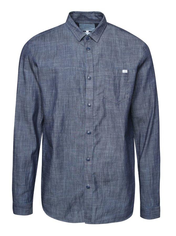 Tmavomodrá melírovaná rifľová košeľa Jack & Jones Adam