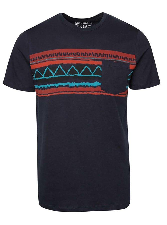 Tmavě modré triko s kapsou Jack & Jones Class