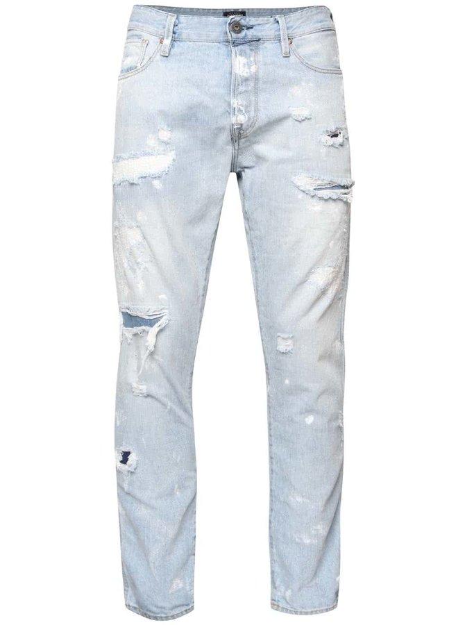 Světle modré džíny s potrhaným efektem Jack & Jones Erik