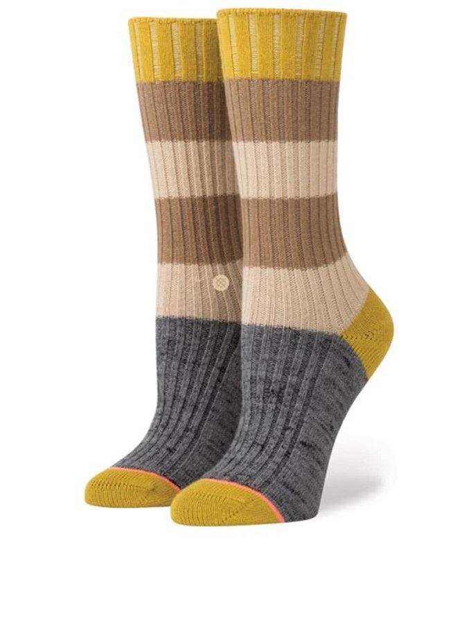 Šedo-hnědé dámské pruhované ponožky Stance Tampa