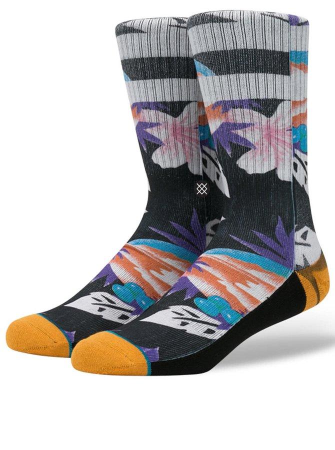 Černo-šedé pánské ponožky s barevným vzorem Stance Newport