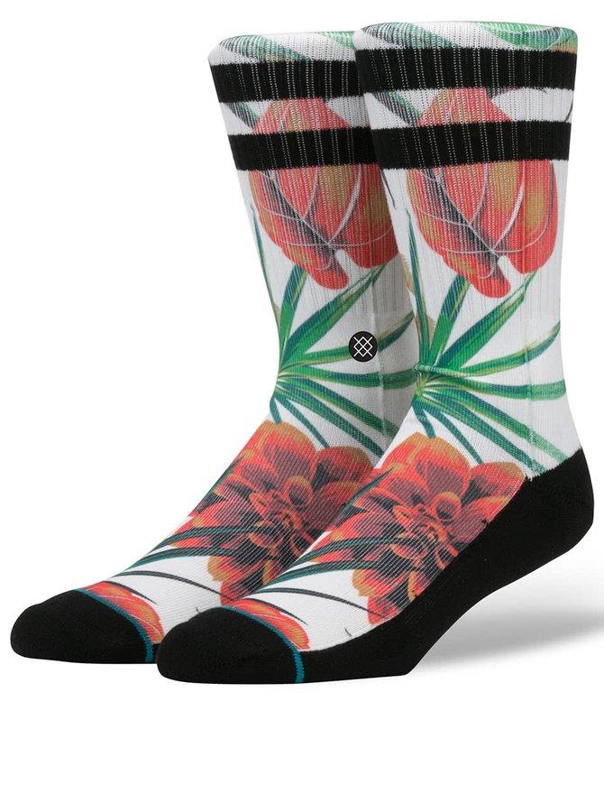 Čierno-biele pánske ponožky s kvetovaným motívom Stance Wanderer