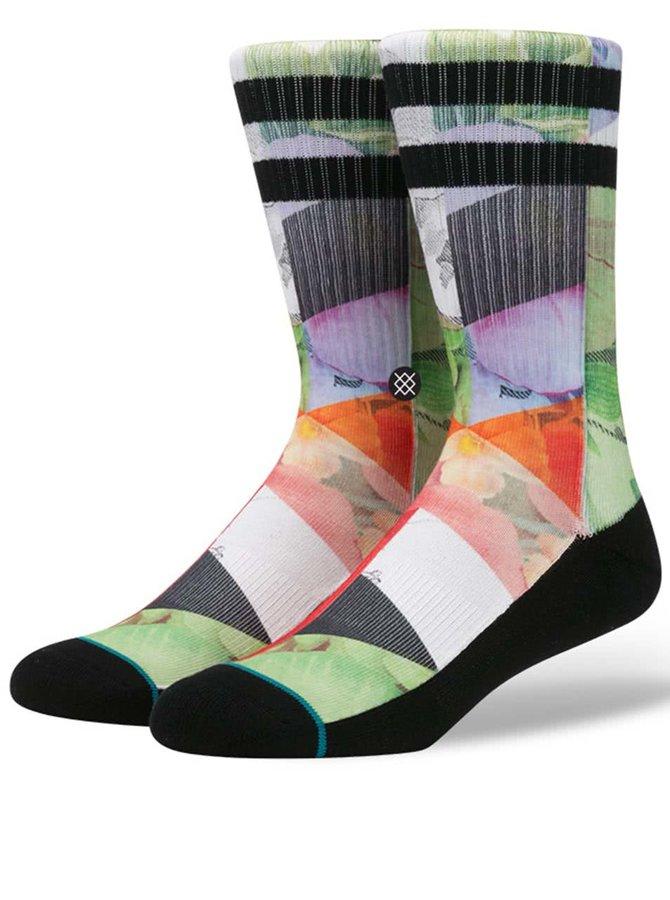 Čierno-zelené pánske ponožky s farebným vzorom Stance Free Love