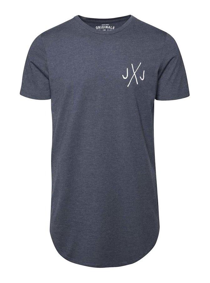 Modré žíhané triko s logem Jack & Jones Break