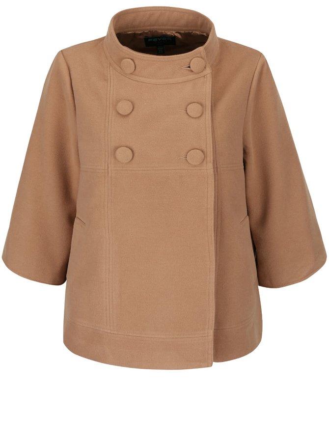 Jachetă bej Fever London Salla cu croi evazat