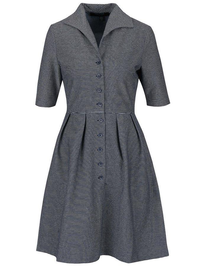 Modré pruhované propínací šaty Fever London Nora