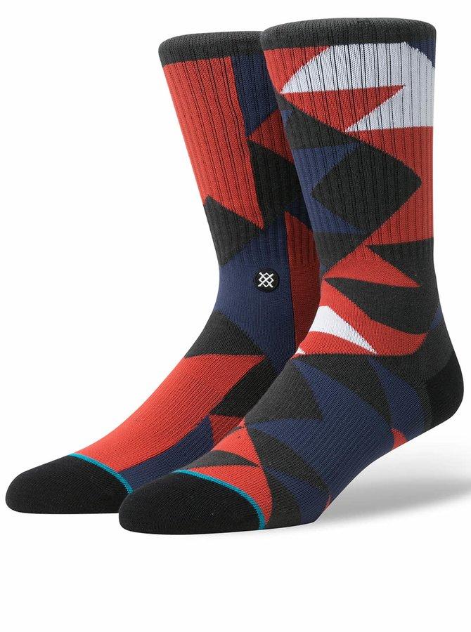 Červeno-modré pánske vzorované ponožky Stance Mondo