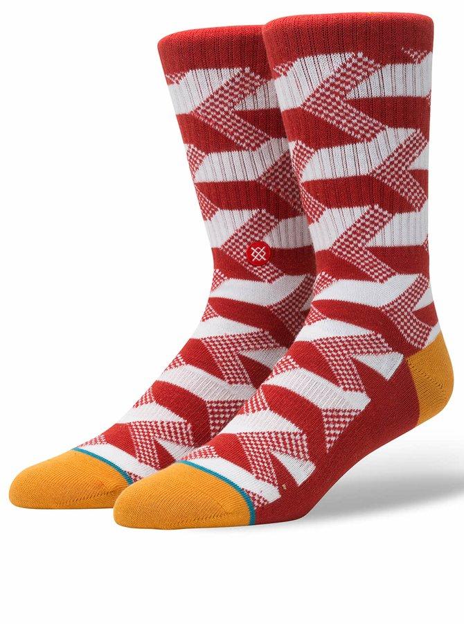 Bílo-červené pánské ponožky Stance Happening