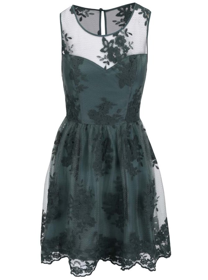 Zelené šaty s kvetinovým motívom Apricot