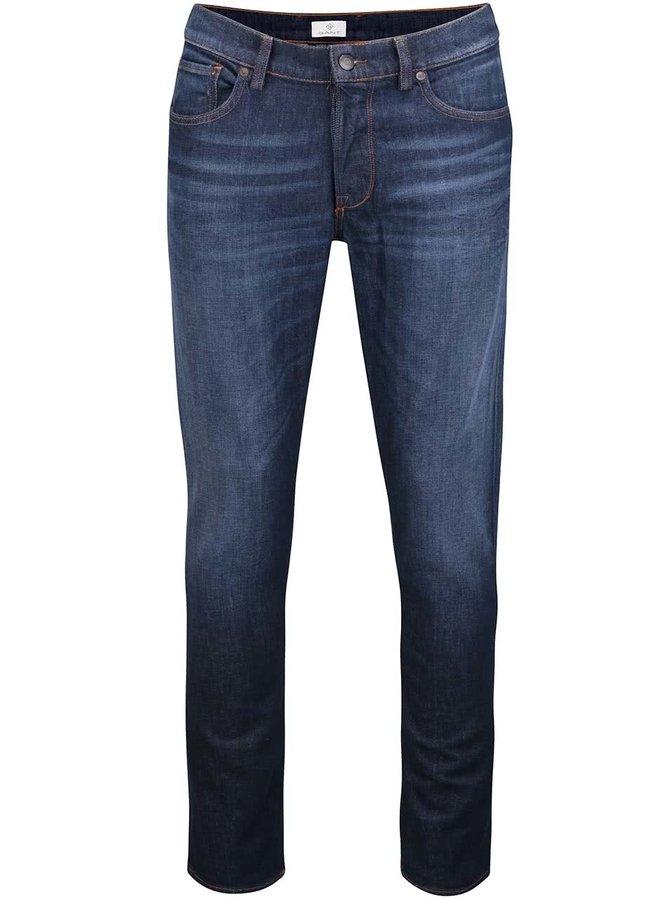 Tmavě modré pánské slim džíny GANT