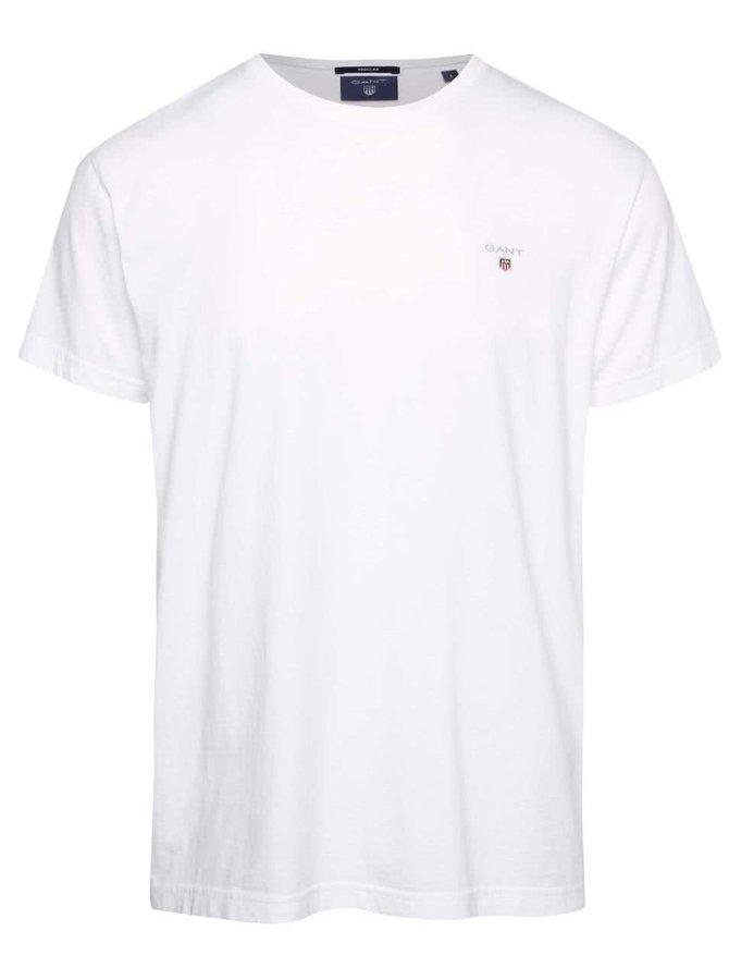 Biele pánske tričko s logom GANT