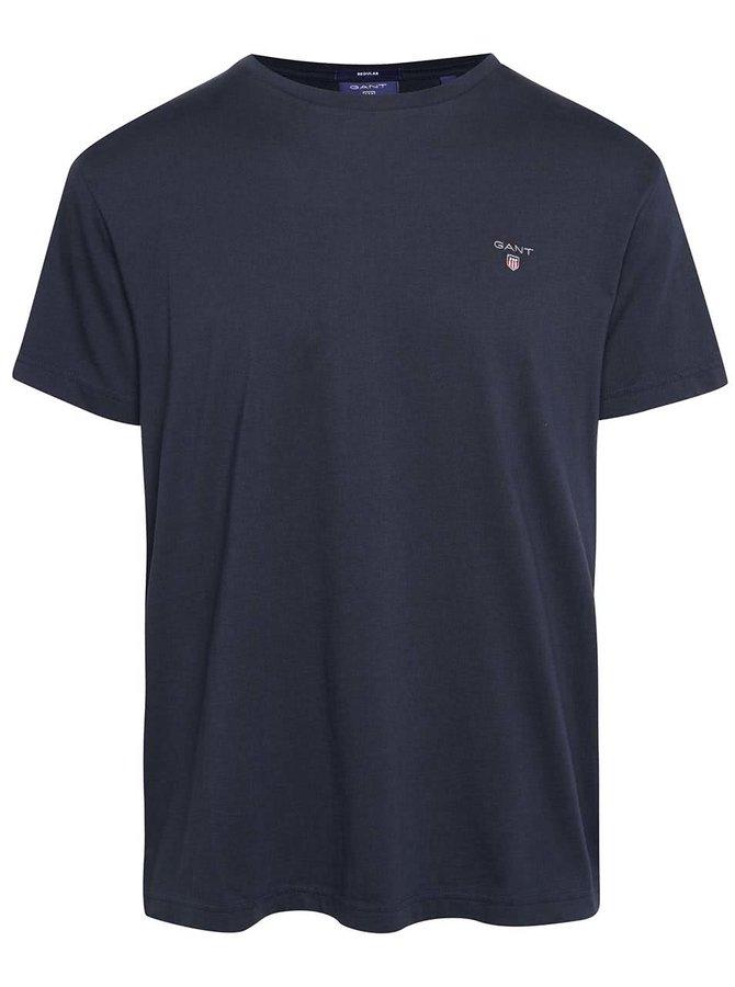 Tmavomodré pánske tričko s logom GANT