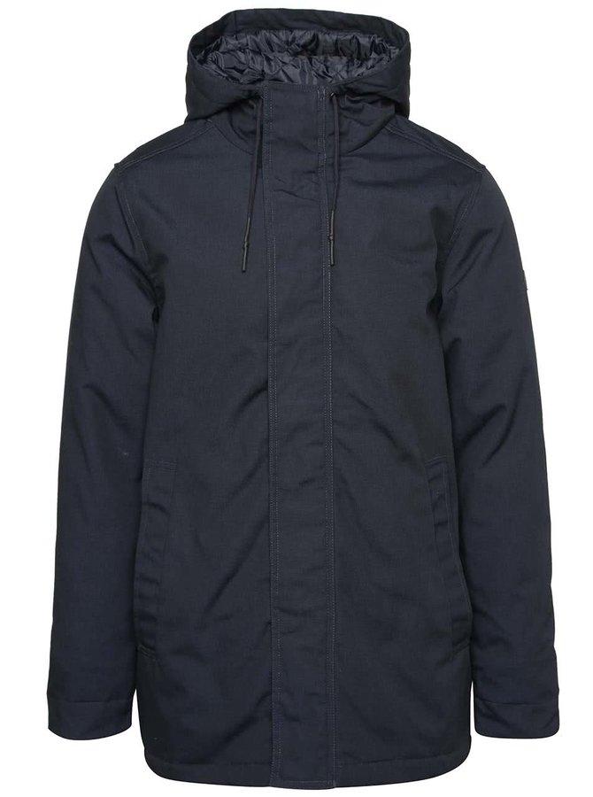 Tmavomodrá pánska bunda s kapucňou RVLT