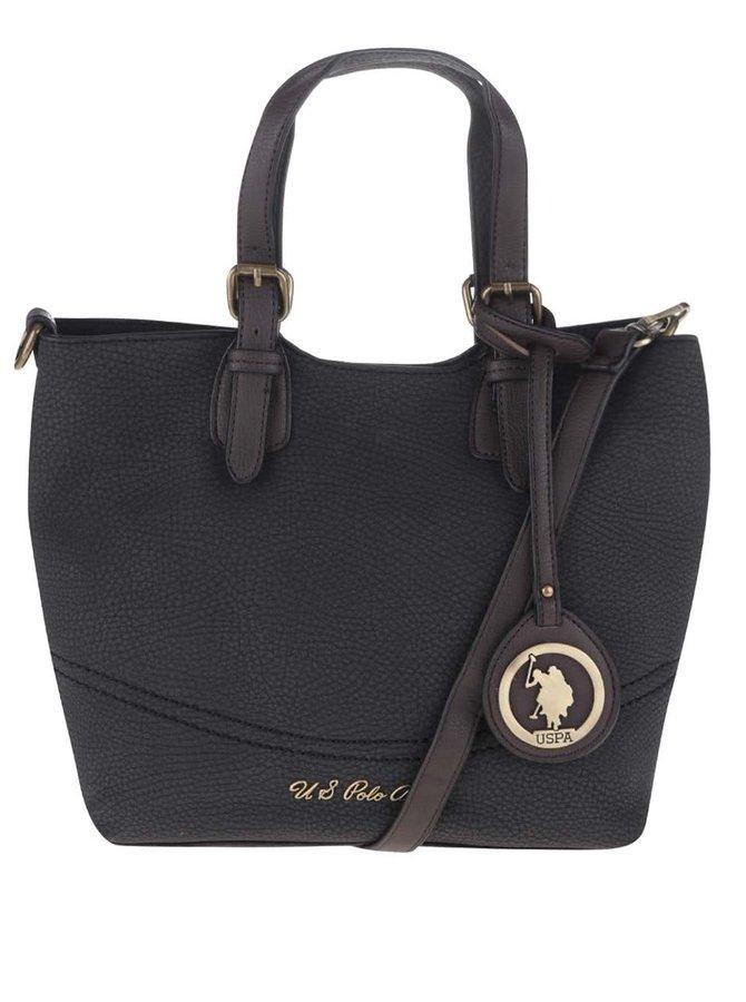 Tmavě šedá menší kabelka s odnímatelným popruhem U.S. Polo Assn