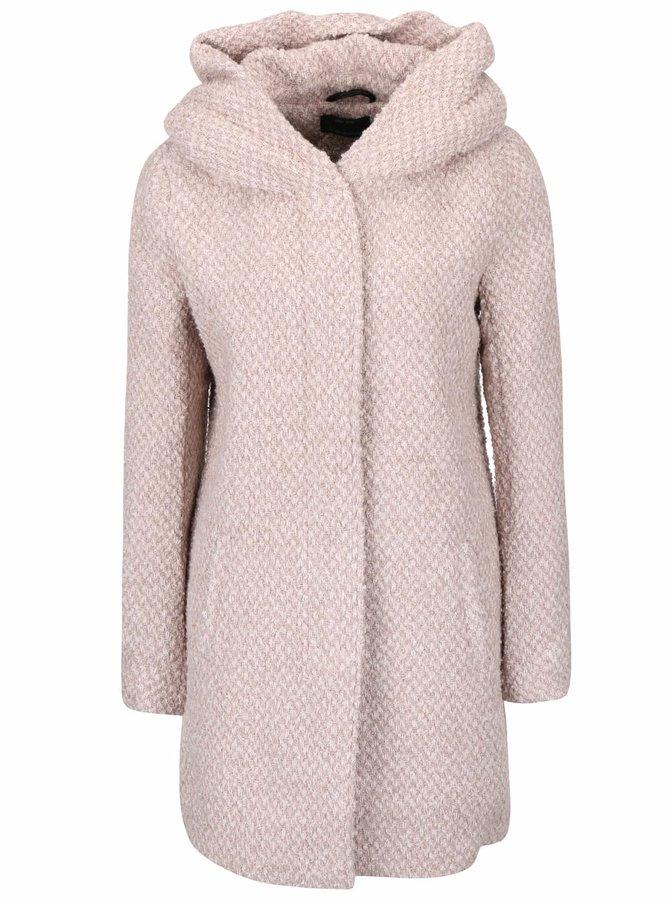 Staroružový žíhaný kabát s kapucňou ONLY New Indie