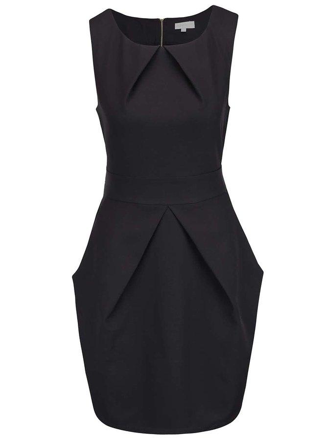 Černé šaty s mašlí Apricot