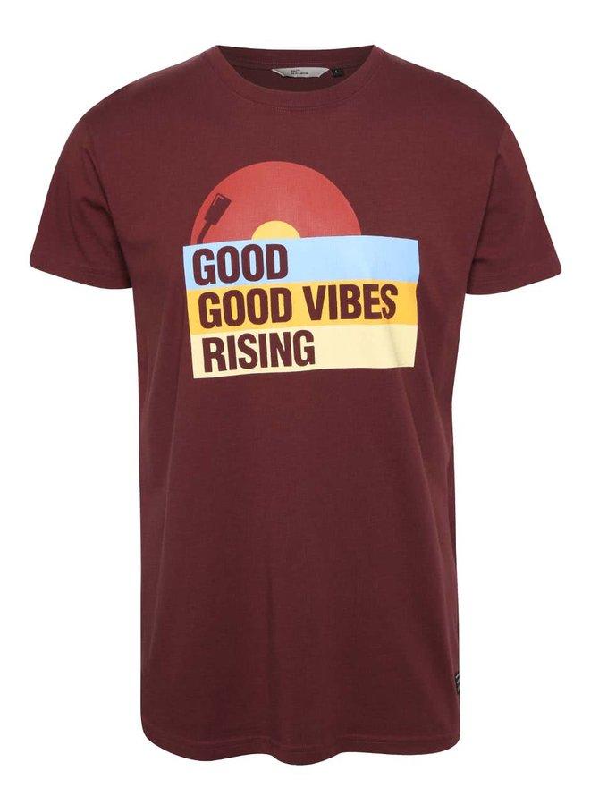 Vínové pánské triko s potiskem RVLT