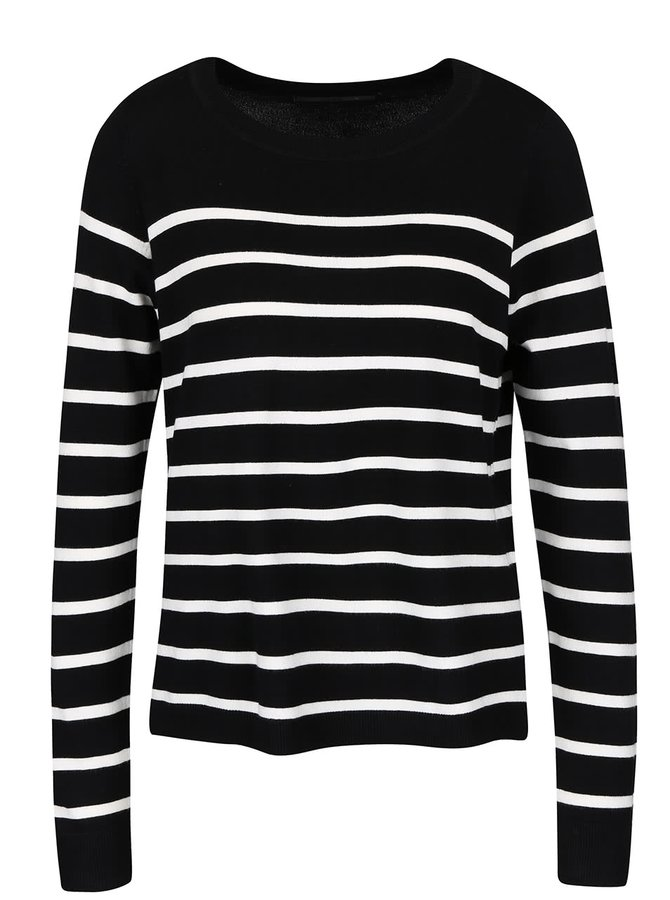 Bielo-čierny ľahký pruhovaný sveter ONLY Mila