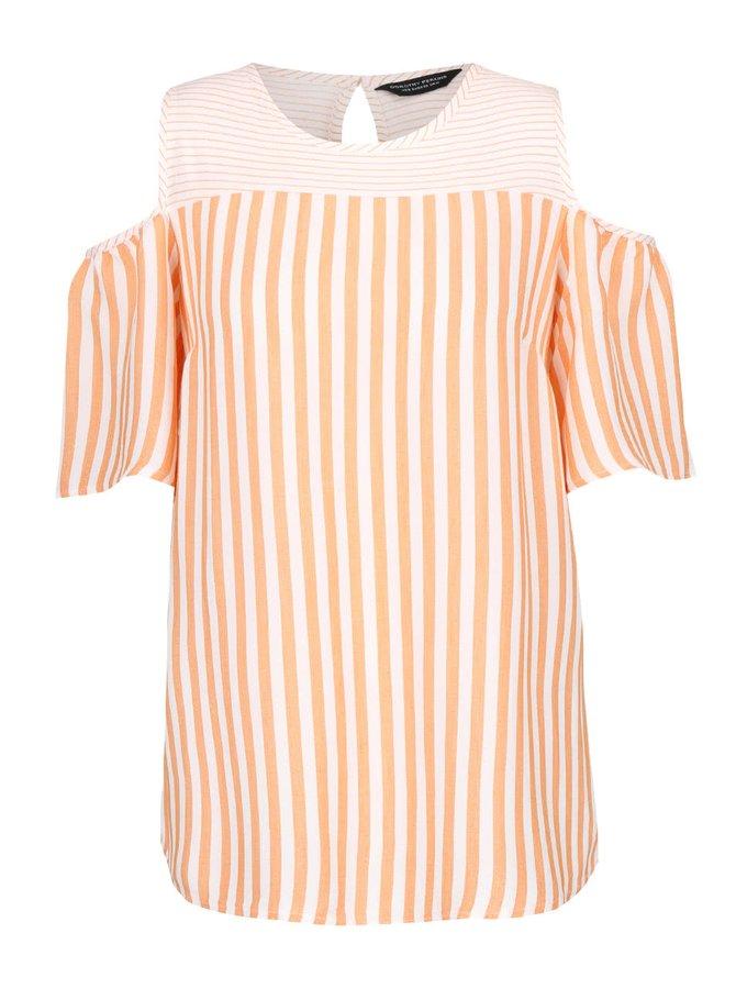 Bluză crem cu portocaliu Dorothy Perkins în dungi