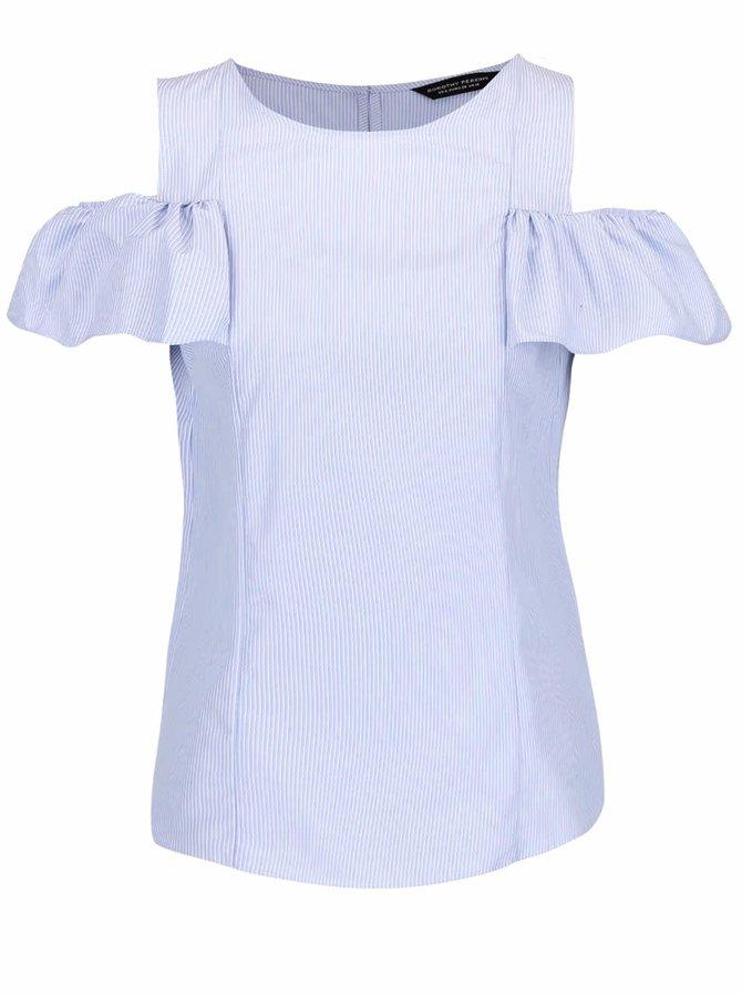 Bluză albastru deschis cu volane Dorothy Perkins
