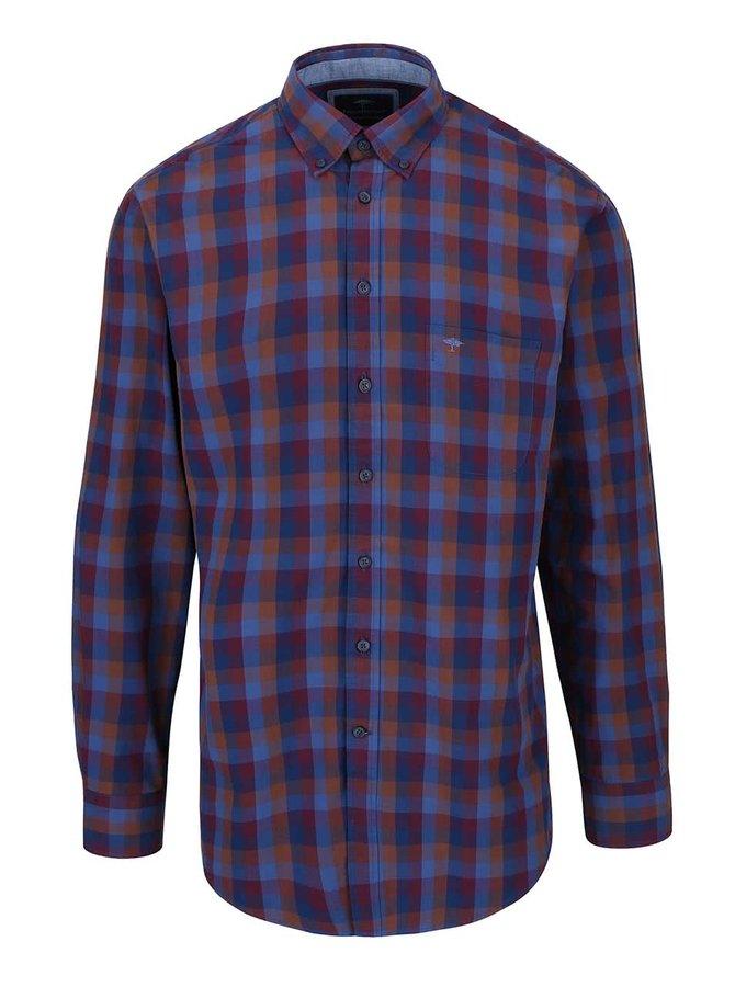 Modro-vínová kockovaná košeľa Fynch-Hatton