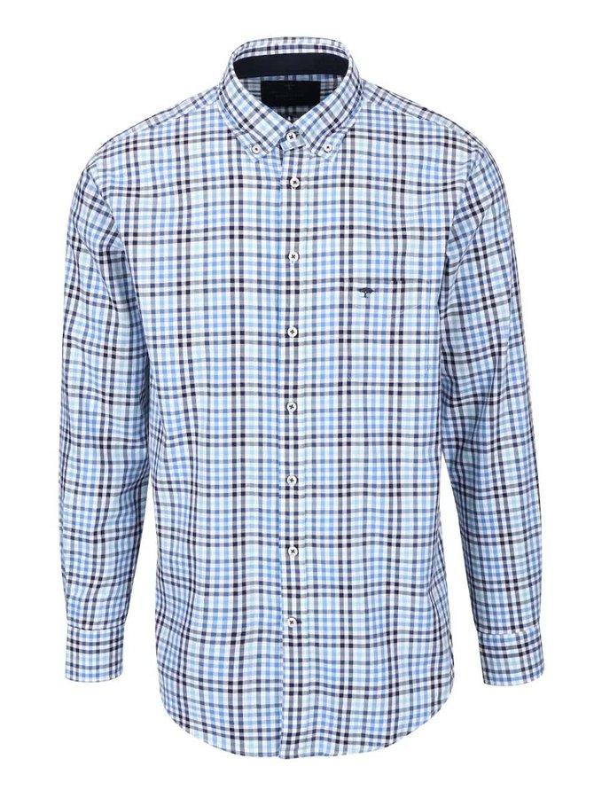 Bielo-modrá kockovaná košeľa Fynch-Hatton