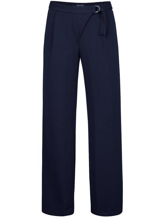 Tmavě modré volnější kalhoty Lavand