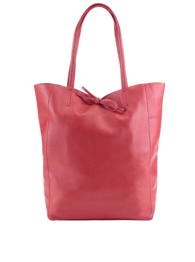 Geantă roșie shopper din piele ZOOT Simple