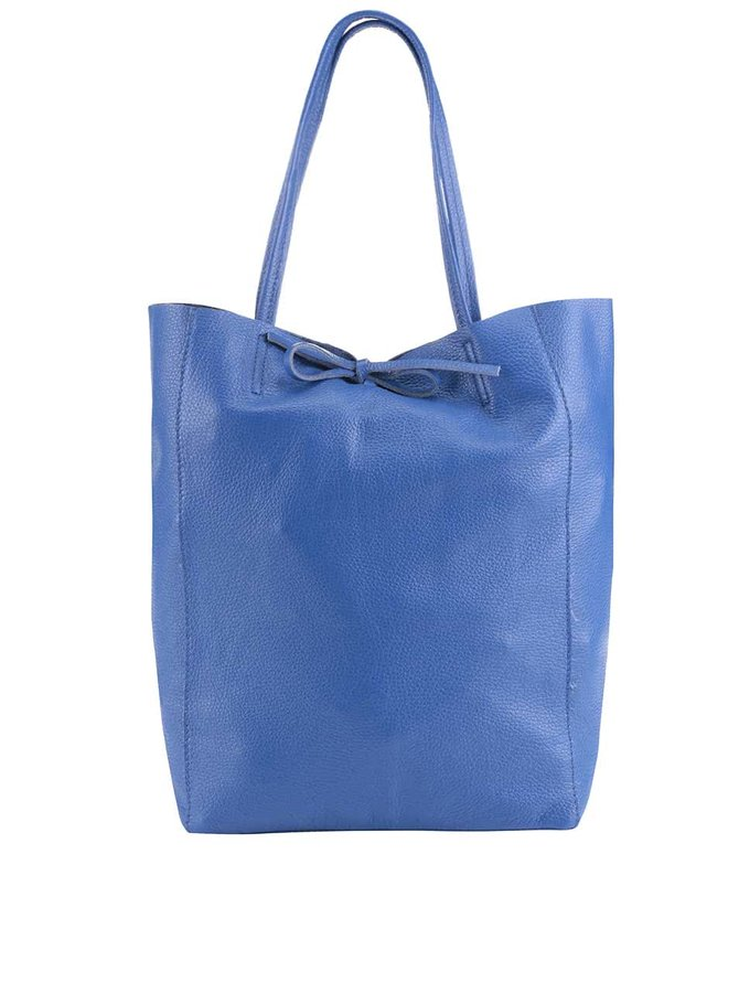 Kráľovský modrý kožený shopper ZOOT Simlpe