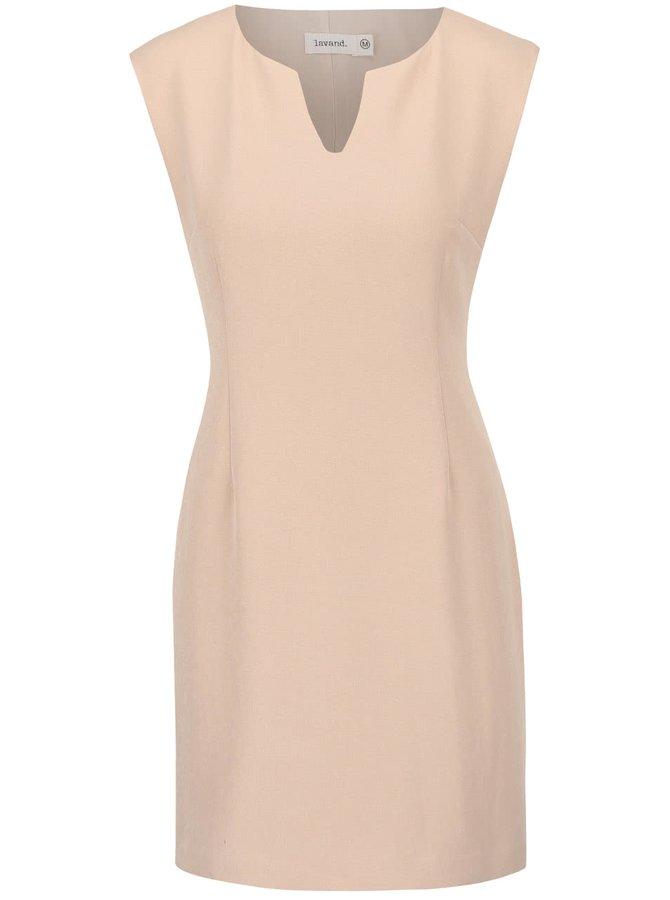 Béžové pouzdrové šaty Lavand