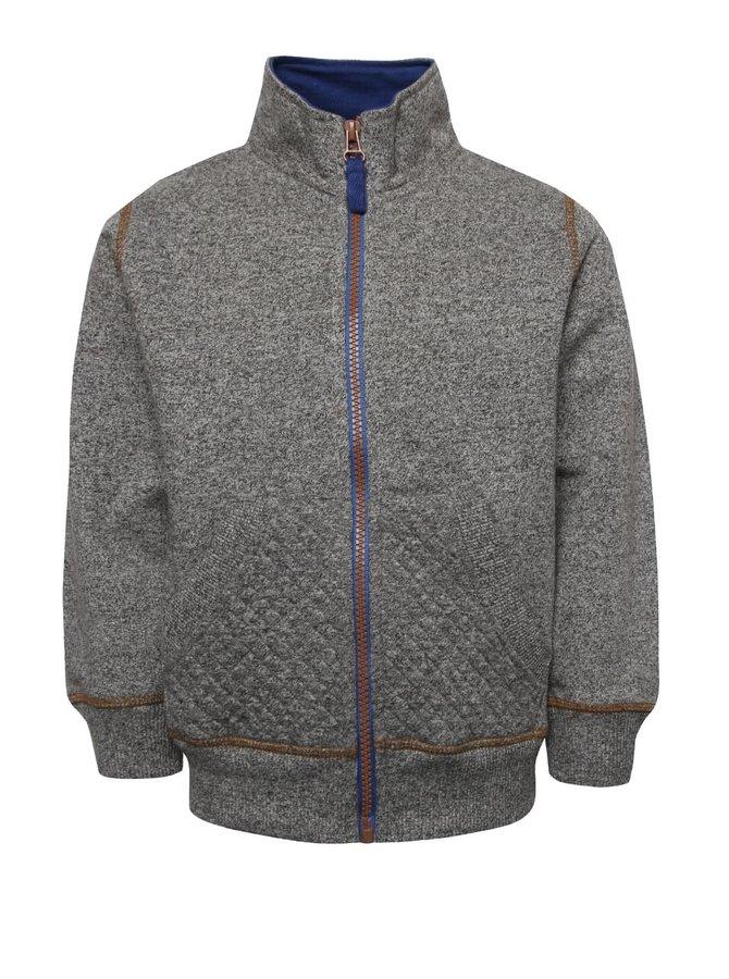 Bluză gri 5.10.15. cu guler înalt și model discret