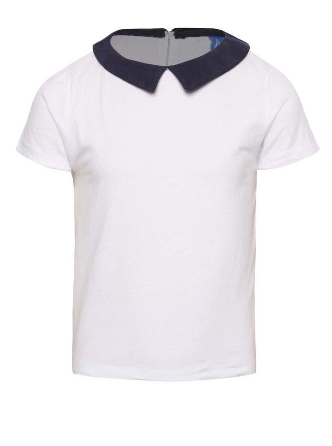 Bílé holčičí tričko s límečkem 5.10.15.