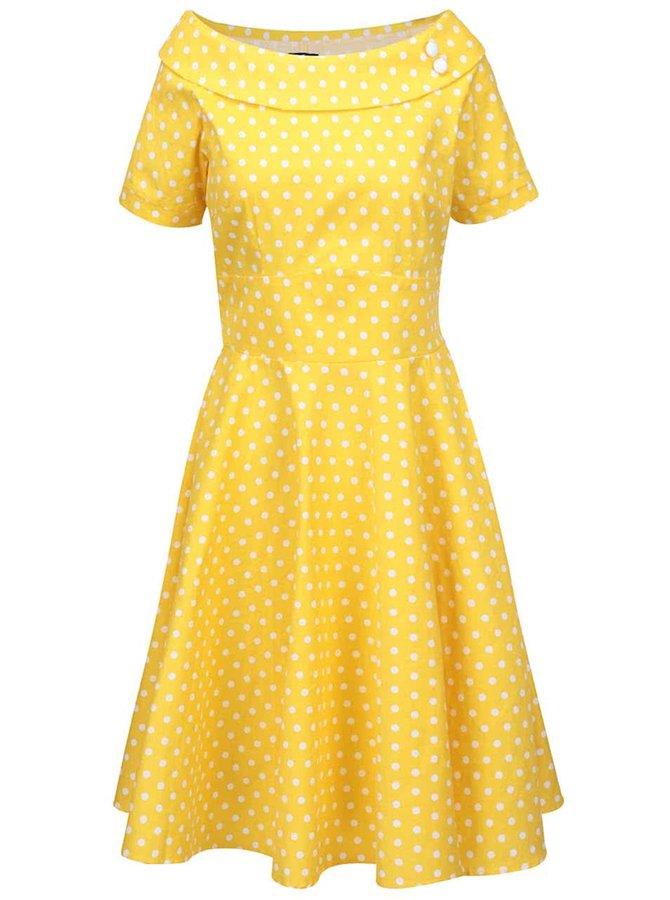 Rochie galbenă Dolly & Dotty Darlene cu buline