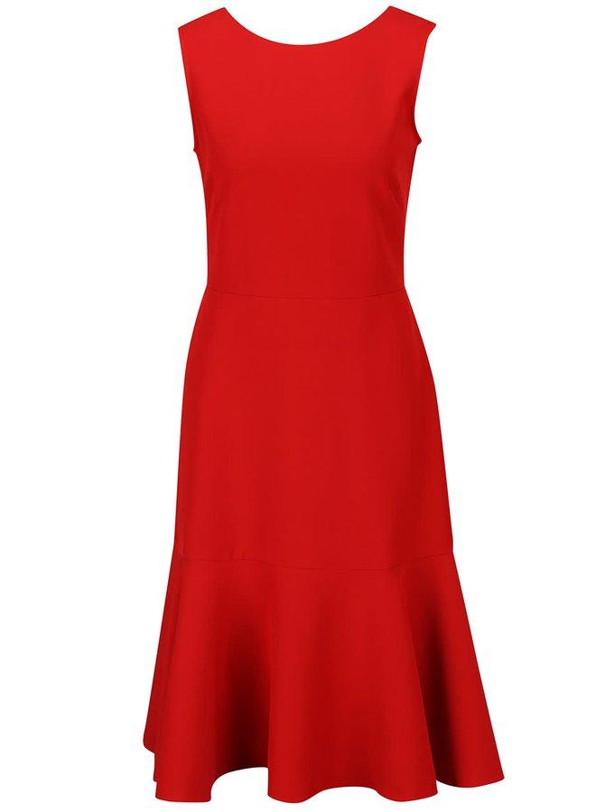 Červené šaty s volánom Closet